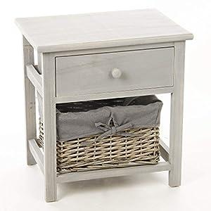 Table de nuit table de chevet en bois avec 1 tiroir de - Table de nuit en anglais ...