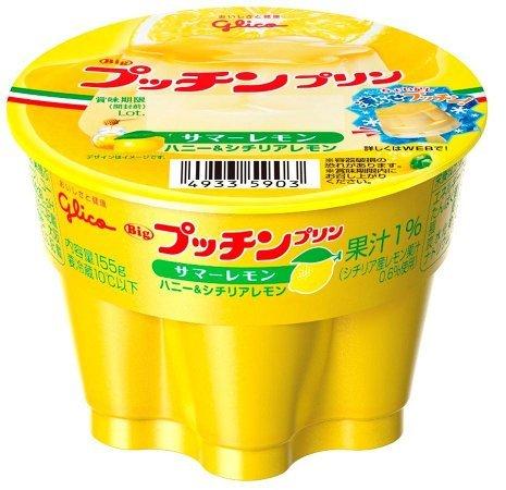 グリコ Bigプッチンプリン サマーレモン155g 12個