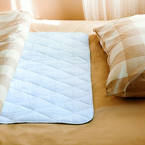 "PharMeDoc Waterproof Mattress Bed Protector - 34"" x 52"" - Washable Absorbent Incontinence Pad for both Adults and Children - Bedwetting"