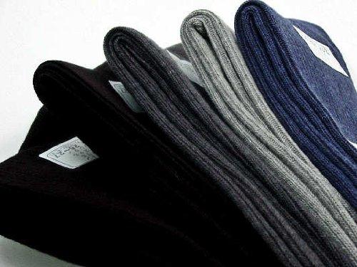 東洋紡 銀世界(光触媒除菌繊維糸)使用 銀イオンで除菌の靴下 25/27cm Mサイズ リブ柄の5足セット