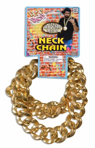 Gold Big Link Necklace Costume Chain