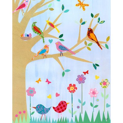 Oopsy Daisy Birds In A Tree Stretched Canvas Wall Art by Rachel Taylor, 24 by 30-Inch