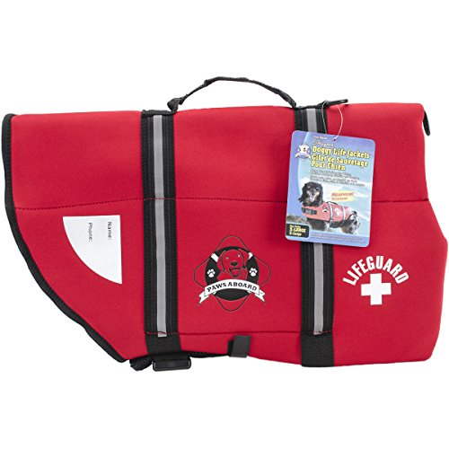 Neoprene Doggy Life Jacket Extra Large Red over 90 lbs.