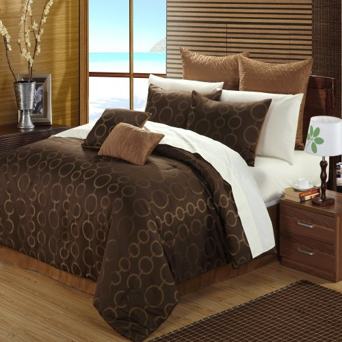 Chic Home Deco 12-Piece Bed-In-A-Bag, King, Jacquard front-974603