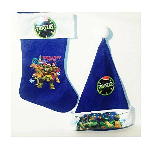 Children Christmas Ninja Turtle Santa Hat and Stocking Set! (Ninja Turtle Stocking compare prices)