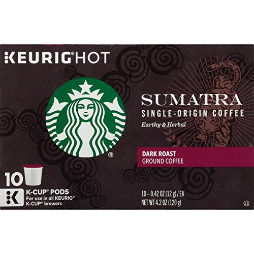 Starbucks Sumatra, K-Cup for Keurig Brewers, 60 Count (Keurig Pods Starbucks Coffee compare prices)