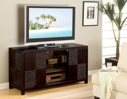 Inland Empire Furniture Rinzen Deep Cappuccino Solid Wood Flat Panel TV Stand