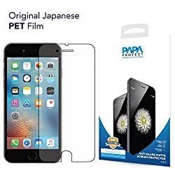 iPhone 6S Plus / 6 Plus Papa Protect Anti Glare Matte Screen Protector | Pack of 3 Film Protectors | 3D Touch Compatible | Original Japanese PET Film | True Touch | Perfect Fit | Scratch Protection | Unmatched Clarity | Avoids Direct Glare | Bubble Free Application | Lifetime Warranty