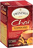 Twinings Pumpkin Spice Chai, 20 Count (Pack of 6)