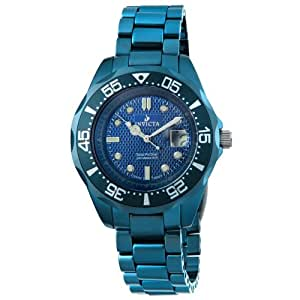 Invicta Men's 4693 Blue Ceramic Swiss Quartz Watch with Blue Dial