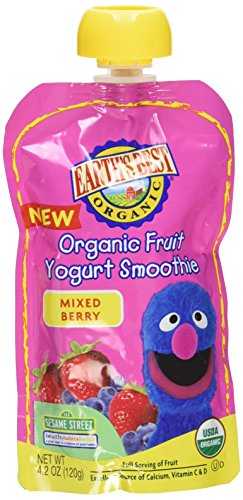 Earth's Best, Organic Fruit Yogurt Smoothie, Mixed Berry (Pack of 6) (Fruit Smoothie compare prices)