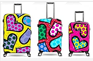 Heys Romero Britto Hearts Carnival 3pc Set (22