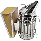 "GardenHOME Bee Hive Smoker 11"" with Updated Design and Heat Protection"