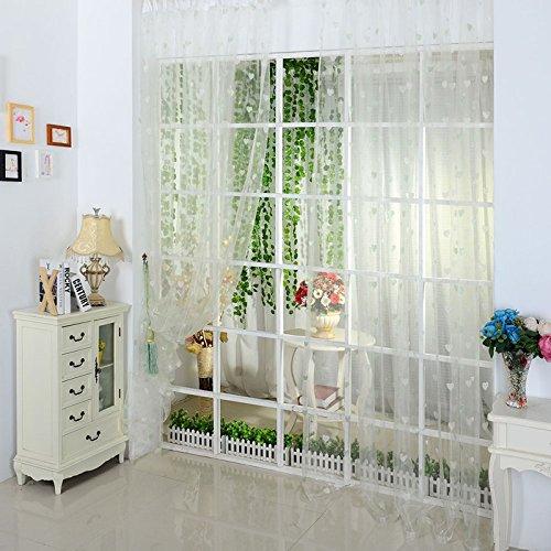kasit herz romantik bedruckt sheer voile fenster vorhang. Black Bedroom Furniture Sets. Home Design Ideas