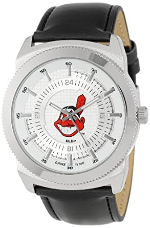 Game Time Mens MLB-VIN-CLE Vintage MLB Series Cleveland Indians 3-Hand Analog Watch by Game Time