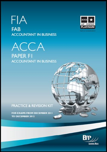FIA - Foundations of Accounting in Business FAB: Revision Kit