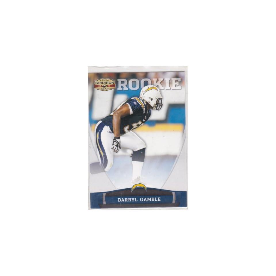 Darryl Gamble 2011 Gridiron Gear #242 Sports Collectibles