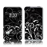 iPod Touch 2nd / 3rd Gen - B & W Fleur - High quality precision engineered removable adhesive vinyl skin for iPod Touch released in 2008 & 2009 (2nd and 3rd Generations)by DecalGirl