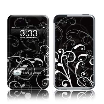 Apple iPod Touch 2G 3G Design Modding Skin Wallpaper - B W Fleur