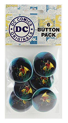 "Button set DC Comics Batman and Robin Button (6-Piece), 1.25"" at Gotham City Store"