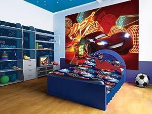 Disney Pixar Cars Lightening McQueen Neon Wallpaper Mural
