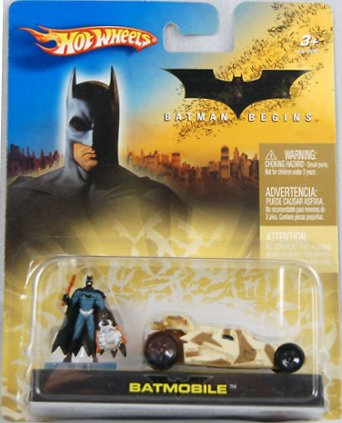 Hot Wheels 2005 1:64 Scale Batman Begins Camouflage Mini Batmobile and Figure Car Gift Set