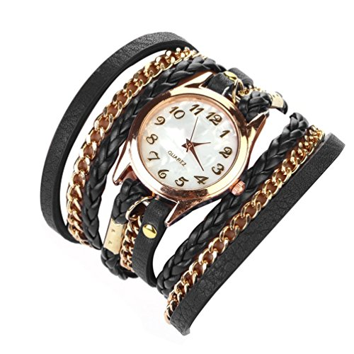 Habors Multiband Classic Watch Black Bracelet With Chains