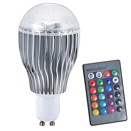 Ljy Gu10 10W Rgb Led Light Color Changing Lamp Bulb Ac 85-265V With Remote Control