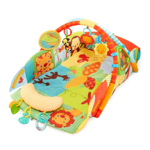 Bright Starts Baby's Play Place Playmat, Swingin' Safari