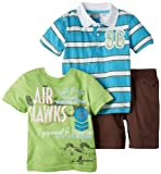 Little Rebels Boys 2-7 Three-Piece Air Hawks Short Set