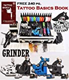 51b065FgVCL. SL160  GRINDER Tattoo Kit 4 Machine Guns Power Supplies / 15 INK / LCD Power Supply / 50 Needles / PLUS Accessories Review