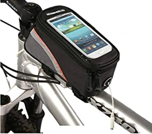 AGPtek® Roswheel 2013 New Waterproof Bicycle Cycling Frame Pannier Front Tube Bag w/ Headphone Jack (Including Clear PVC Window Pouch for 5.5