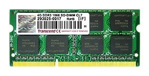 Transcend 4GB DDR3 1066Mhz SO-DIMM Arbeitsspeicher CL7 für Apple MacBook Pro (PC3-8500)