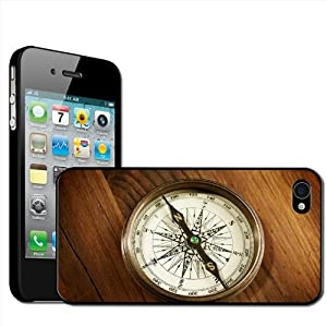 Fancy A Snuggle 'Vintage Retro Compass' Clip On Back Cover Hard Case for Apple iPhone 4/4S