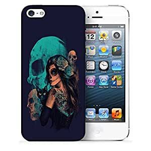 Snoogg Day Of The Dead Printed Protective Phone Back Case Cover For Apple Iphone 5 / 5S