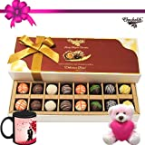 Perfect Combo Of Taste And Charm With Mug And Teddy - Chocholik Belgium Chocolates