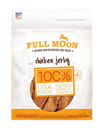 Full Moon All Natural Human Grade Dog Treats, Chicken Jerky, 24 Ounce (Full Moon Chicken Jerky For Dogs compare prices)