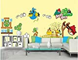 WallPicture Art-Nerdy Birdy, Larde Wall Sticker, Angry Birds, Games, Decal, WallArt for Boys Kids Room D¨¦cor XMK-A0117TX