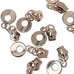 Magideal 10pcs Light-Gold Zip Puller/Zipper Pull Sliders Head Zipper Repair Kit