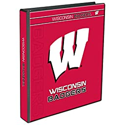 C.R. Gibson 3-Ring Binder, Wisconsin Badgers (C922020WM)