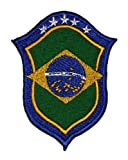 6.3cm x 8.3cm Brazil National Football Team DIY Embroidered Sew Iron on Patch
