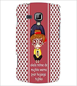 PrintDhaba Quote D-4826 Back Case Cover for SAMSUNG GALAXY S DUOS S7562 (Multi-Coloured)
