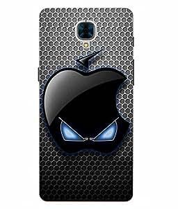 Make My Print Logo Printed Black Hard Back Cover For OnePlus 3