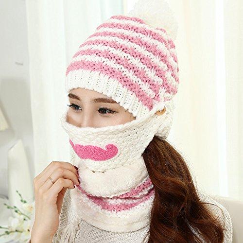 Dngy*Cappelli invernali bambini barba di marea di tessitura a maglia cappello caldo autunno inverno maschere cappuccio il panno privo di figli orecchio i tappi , + un bianco latte