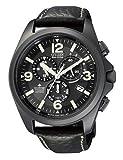Citizen Herren-Armbanduhr Promaster Cronograph Quarz Leder AS4035-04E