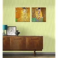 Tallenge Poster Set - Gustav Klimt - The Kiss And Portrait Of Adele Bloch-Bauer - Set Of 2 Unframed Small Size...