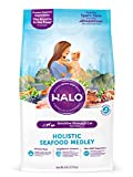 Halo Natural Dry Cat Food, Sensitive Stomach Seafood Medley, 6-Pound Bag