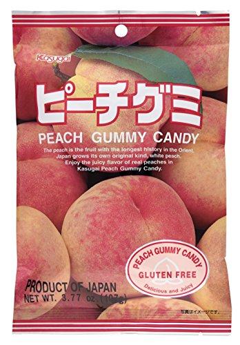 Kasugai Peach Gummy Candy 3.77oz