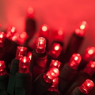 Wintergreen Lighting 70 Light 5mm Red LED Christmas Lights