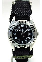 Reflex Boys Green Camouflage Fabric Velcro Strap Watch 1017111C